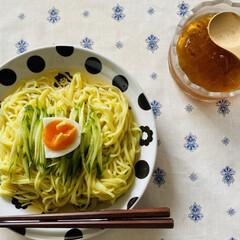 菊水/和風涼麺/鯛だし柚子風味 こんばんは☽・:* 台風が近付いてるせい…(2枚目)