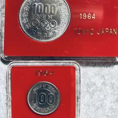 1964年/記念硬貨/硬貨/東京オリンピック/オリンピック こんにちはヽ(^0^)ノ 朝方の雨も上が…(1枚目)