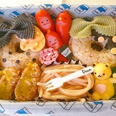 キャラ弁/おにぎり/くまさん/卵/デコ弁/可愛いお弁当/... 冷凍食品おかず(たらこパスタ かぼちゃコ…