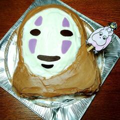 ジブリ/カオナシ/キャラケーキ 友達の誕生日🎂 出来ましたw カオナシw…