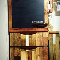 ゴミ箱/冷蔵庫/アクリル絵の具/黒板塗料/すのこ/100均/... 冷蔵庫もやってみましたo(*⌒―⌒*)o…