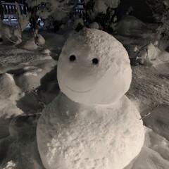 雪だるま/フォロー大歓迎 今日帰る友達がつくってくれました! また…