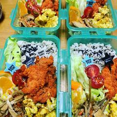 4個弁当/タッパー弁当/長芋入り卵焼き/今日のお弁当/エイハウス/ダイソー/... 20200402おはようございます🍱 雨…