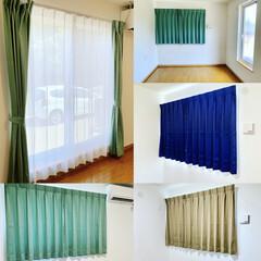 秋田安くていい暮らす家/標準仕様/エイハウス/遮光カーテン/住まい/暮らし/... 標準仕様の遮光カーテン🏠それぞれ好みの色…