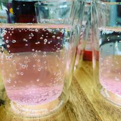 モナン さくら・シロップ 輸入食品 春食材(ジャム、コンフィチュール)を使ったクチコミ「桜ソーダ 最近のお気に入りです」