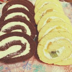子供の日/手作り/ロールケーキ/ケーキ 子供の日にロールケーキ作りました❗️  …