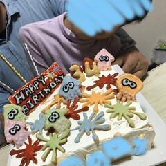 クッキー/タコ/イカ/スプラトゥーン/カラフル/誕生日ケーキ/... 寝ても覚めてもスプラトゥーン好きな旦那様…(2枚目)