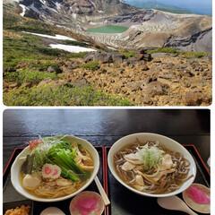 肉そば/御釜 昨日は蔵王の御釜に行って、山形で肉そば食…(1枚目)