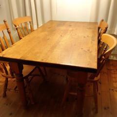 ダイニングテーブル/ヴィンテージ家具/ヴィンテージ/アンティーク家具/アンティーク/テーブル/... マイホーム新築の際に閉店する家具工房で使…