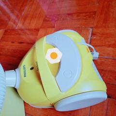 掃除機/角まで掃除できる/掃除グッズ うちちょっとだけふとった掃除機~! 可愛…