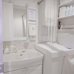 賃貸マンション/原状回復できます/DIY/洗面所/シャンプードレッサー/浴室/... ⑪ ついに、『洗面所完成♪』 ジョイント…(1枚目)
