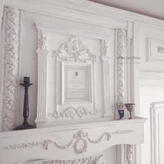 シャビ―シック/海外インテリア/宮殿/レリーフ/Rose/リボン/... 『White roseフレーム』完成しま…