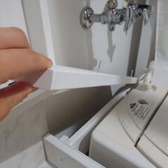 DIY/原状回復できます/賃貸マンション/洗面所/シャンプードレッサー/洗面台/... ⑩ 洗面所、隙間を埋めて~微調整して~ …