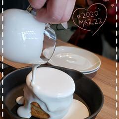 スイーツ部/リミアな暮らし/バニラクリーム/ミルクキャップパンケーキ/パンーケーキ/スイーツ大好き/... 今日も素敵な一日になりますように(♥Ü♥…(2枚目)