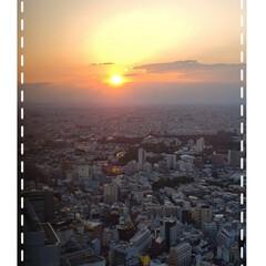 渋谷スクランブルスクエア/夕陽/フォロー大歓迎 今日も素敵な一日になりますように(♥Ü♥…