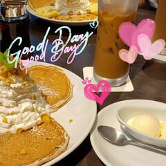 パンケーキ/休日の楽しみ/ささやかな幸せ/幸せな休日/至福の時間/私服のひととき/... 行ってみたかった Hawaiianパンケ…