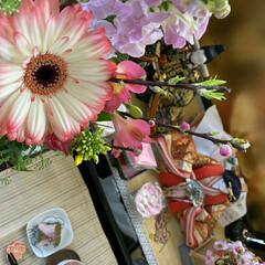癒される時間/至福のひととき/お雛様/桜茶/桜餅/リミアな暮らし/... 🎼.•*¨*•.¸¸🎶お内裏様とお雛様🎼…