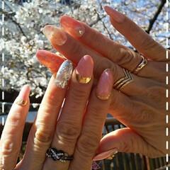 母娘でネイル好き/リミアな暮らし/ネイルと桜/春ネイル/ネイル大好き/ネイルチップ/... 今日も素敵な一日になりますように(♥Ü♥…