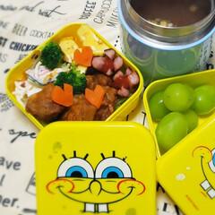 保温ポット/スープジャー/お弁当のおかず/お弁当/女子高生のお弁当/昼食/... 今日の娘のお弁当🍴🍱  ⸜❤︎⸝唐揚げ…