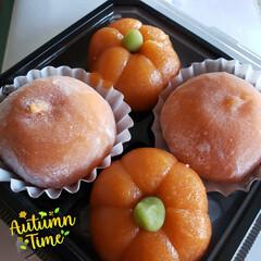 こしあん/和菓子/至福の時間/至福のひととき/かぼちゃまんじゅう/かぼちゃ大福/... 今日のおやつTime🕒😋  かぼちゃ大福…