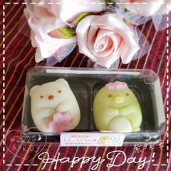 リミアのある暮らし/リミアな暮らし/可愛い和菓子/春/桜/すみっコぐらし/... 今日も素敵な一日になりますように(♥Ü♥…