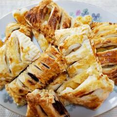 あずき缶/アップルパイ/冷凍パイシート/甘党/フォロー大歓迎 今回の誕生日会は ケーキでなく2種類のパ…