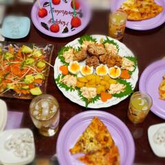簡単/お祝い/おめでとう/お誕生日/お誕生日パーティー/おうちごはん/... 週末は 娘の誕生日会を  ピザが食べたい…