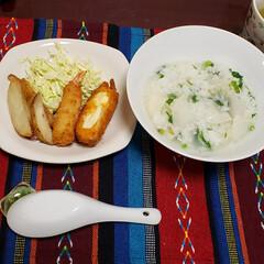 お惣菜/七草粥/七草粥の日/おうちごはん/我が家の夕食/フォロー大歓迎 今日も素敵な一日になりますように(♥Ü♥…(1枚目)