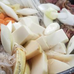 なんちゃってレシピ/我が家の夕食/すき焼き風 今夜は 冷蔵庫にあった野菜で なんちゃっ…(3枚目)
