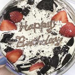 美味しい/お手軽ケーキ/飾りつけ/冷やすだけ/オーブン不要/簡単ケーキ/... 長女の誕生日に次女と オレオチーズケーキ…