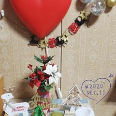お花大好き/ハート大好き/100均雑貨/100均/メリークリスマス/寝室/... 今日も素敵な一日になりますように(♥Ü♥…(1枚目)