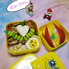 ハート/お弁当のおかず/女子高生のお弁当/ランチ/お昼/お昼ごはん/... 今日の娘のお弁当🍱🍴  ⸜❤︎⸝ピーマ…