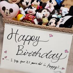 飾り付け/ディズニー好き/誕生日祝い/誕生日を祝う/思いやり/姉妹/... 長女の誕生日に 次女が お姉ちゃんの為に…