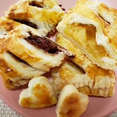 あずき缶/アップルパイ/冷凍パイシート/甘党/フォロー大歓迎 今回の誕生日会は ケーキでなく2種類のパ…(2枚目)