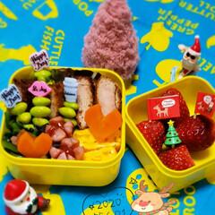 サンタさん/クリスマス雑貨/100均/ラブリーピック/JKのお弁当/女子高生のお弁当/... 12月初日からバタッついてた 1日があっ…