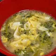 カルパッチョ/カツオ/味噌汁スープ/お味噌汁/ブロッコリーレシピ/ブロッコリー/... 今夜は… ブロッコリーを 味噌スープ仕立…(2枚目)