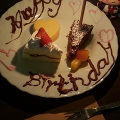 いちご/ハート型/プリンの容器/ケーキの盛り合わせ/ワンプレート/100均雑貨/... 娘2人に誕生日ケーキ  ケーキ盛り合わせ…(2枚目)