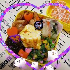 女子高生のお弁当/ランチ/昼食/お弁当のおかず/今日のお弁当/娘のお弁当 今日の娘お弁当🍴🍱  ⸜❤︎⸝チキンの…