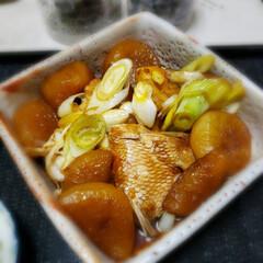大根/蓮根のキンピラ/煮付け/真鯛/おかず/夕食/... 今日も素敵な一日になりますように(♥Ü♥…