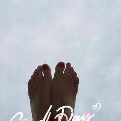おでかけ/空を見上げる/のんびり休日/海辺/ささいな幸せ/幸せな休日/... 今日は ☁だったので  少しだけ 海での…