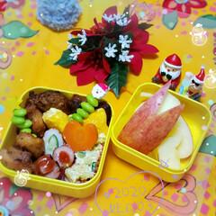 クリスマス雑貨/女子高生のお弁当/1日頑張ろう/お弁当のおかず/今日のお弁当/リミアのある暮らし/... 今日は バタバタとしそうなので💦 昨夜に…(1枚目)