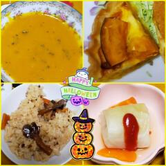 おうちごはん/ひとりご飯/ロールキャベツ/きのこご飯/キッシュ/かぼちゃスープ/... 🎃☆*:;;:*★Happy Hallo…