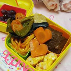 お昼ごはん/女子高生のお弁当/お弁当のおかず/娘のお弁当/100均/ランチ/... お疲れ様でした(´∞`*)ゞ  夕方から…