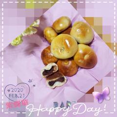 パン作り/これからもよろしくお願いします/いつもありがとうございます/あんぱん/フォロー大歓迎/暮らし 今日も素敵な一日になりますように(♥Ü♥…