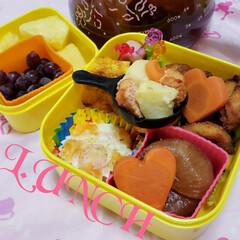 フライパン型シリコンカップ/女子高生のお弁当/お弁当のおかず/娘のお弁当/100均/キャンドゥ/... 今週から再開した🍱作りも 無事終了(●︎…