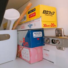 オススメのラップ収納方法/ラップ/収納/ラップ収納 我が家のラップ収納方法はこちらです💁♂…