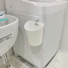 Seria 洗面所のゴミ箱を、床置きからフック掛けに…