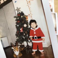 家族/クリスマス/ファミリー/子供/クリスマス2019 毎年クリスマスは娘のチェキを撮って友人や…