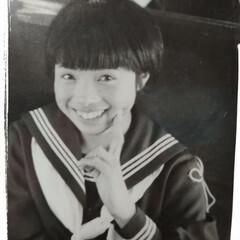 昔懐かし 母の 中学生時代😁 今は ‥可愛かったの…