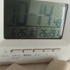 湿度/梅雨 四畳半 モワッっとしたから 湿度計見たら…